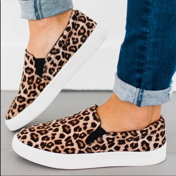 Soda Shoes | Soda Leopard Slip On